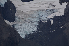 Chile, Hanging Glacier on the Slope of Cerro Ostrava