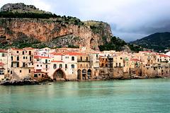 Cefalu, Altstadt, Hafen, Sizilien