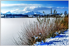 Untouched snow on the Lake.  ©UdoSm