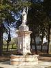 Fountain on church garden.