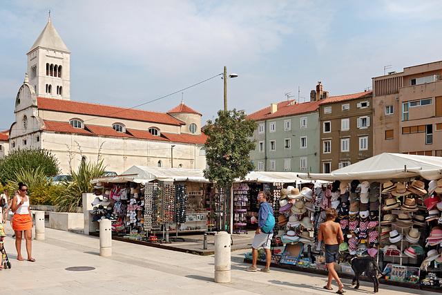 Zadar - Der Marktplatz beim Forum