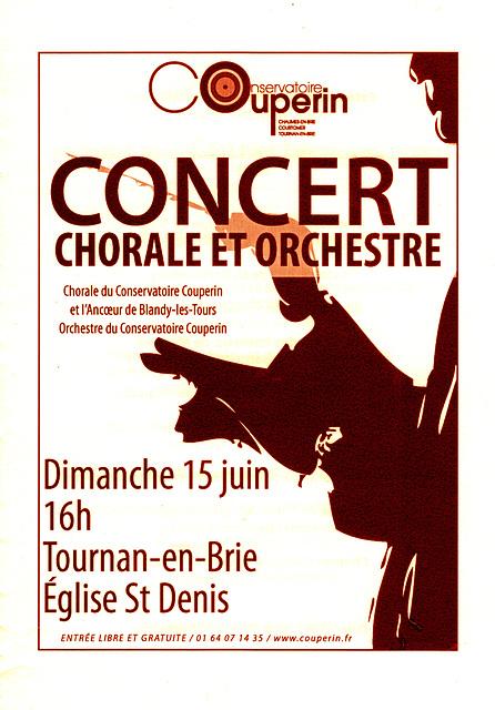 Concert à Tournan-en-Brie le 15 juin 2014