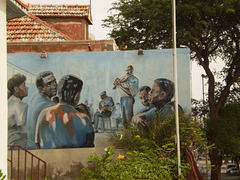 Mural of the Municipal School of Music.