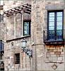 Barcellona : Immagine del centro storico alle spalle della cattedrale