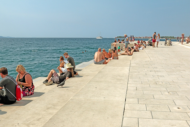 "Zadar - Bei der ""Meeresorgel"" (""Sea Organ"")"