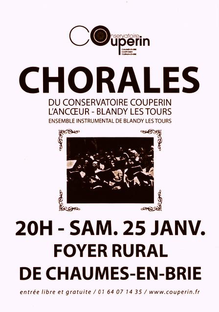 Concert à Chaumes-en-Brie le 25 janvier 2014