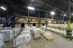 Hoffman kiln on the inside