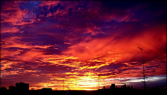 Sunset over Chamberí, Madrid