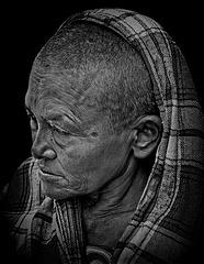 woman at Basantapur Square Kathmandu