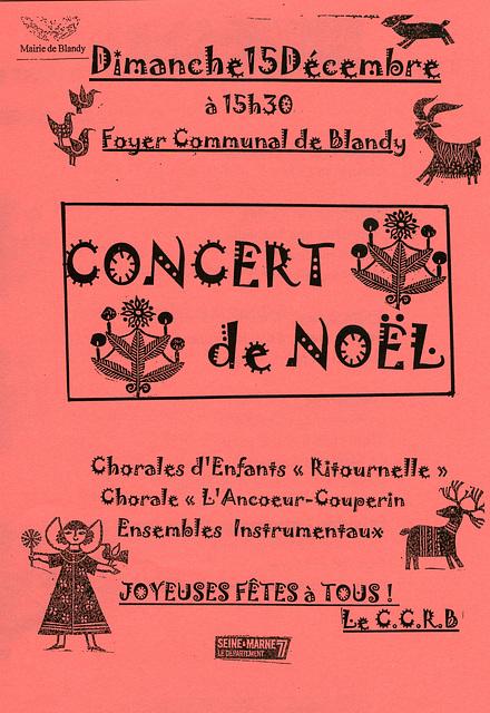 Concert à Blandy-les-Tours 15 décembre 2013