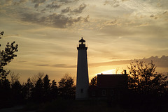 Tawas Point at Sunset