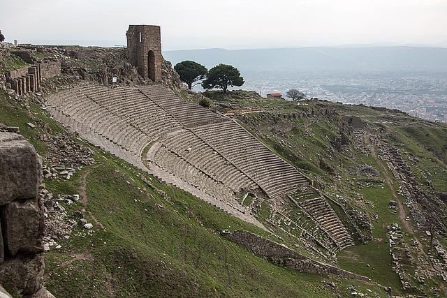 20151207 9811VRAw [R~TR] Theater, Pergamon, Bergama