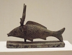 Sacred Fish with the Crown of Isis in the Virginia Museum of Fine Arts, June 2018