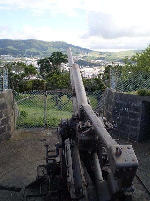 British anti-aircraft artillery of 1940.