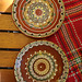 Traditional 'peacock pattern' plates