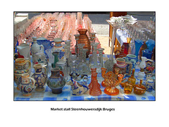 Market stall china & glass in Bruges