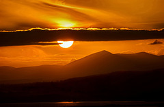 Sunset over the Monavullagh Mountains, Waterford, Ireland.