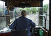 Tram Driver on the Tramway at Summerlee Museum, Coatbridge