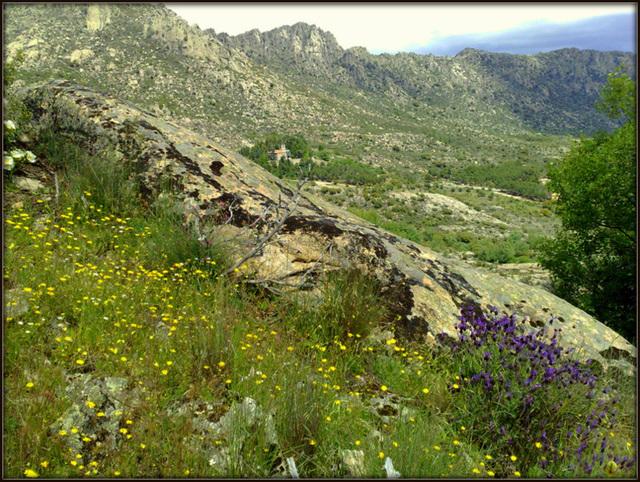 Monastery and Sierra in spring.