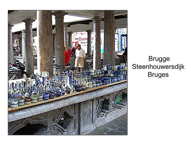 Market stall pottery Steenhouwersdijk Bruges