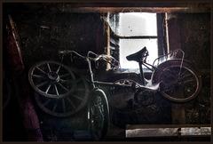 old bike in the barn