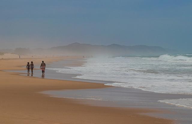 promenade sur la plage