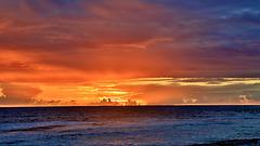 lever de soleil à Aratika (archipel des Tuamotu)