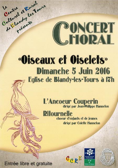 Concert à Blandy-les-Tours le 05 juin 2016