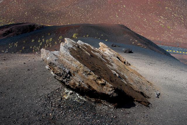 Fels am Kraterrand