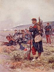 Francaj soldatoj ĉirkaŭ 1870
