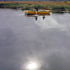 Fishing in Lake Paca in 1964