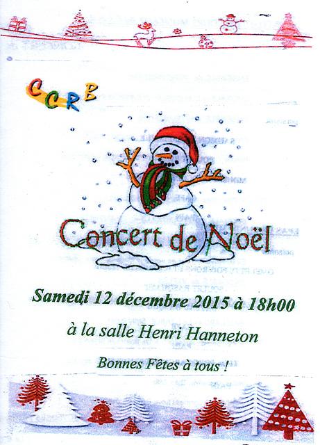 Concert à Blandy 12 décembre 2015