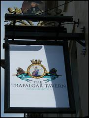Trafalgar Tavern pub sign
