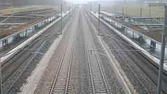 LES AUXONS: Passage à 320 Km/H du TGV Lyria n° 9206 en provenance de Zurich et à destination de Paris Gare de Lyon.