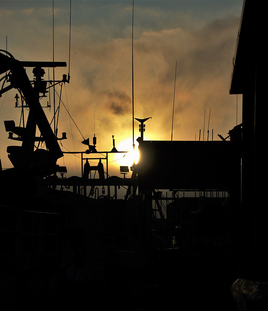 Approaching Sunset. North Shields Fishquay