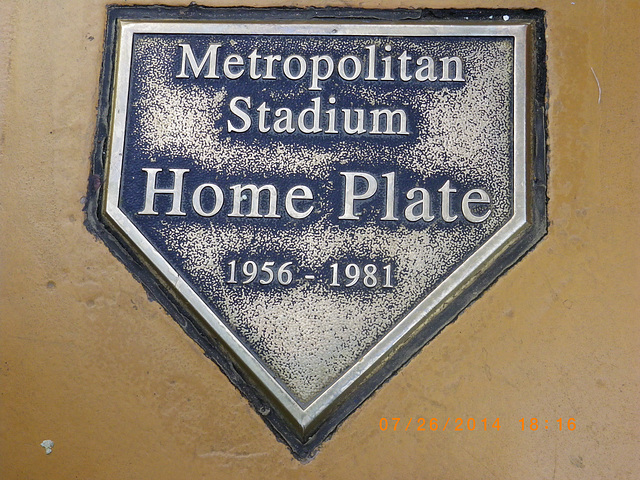 Home Plate from Metropolitan Stadium now at the Mall of the Americas