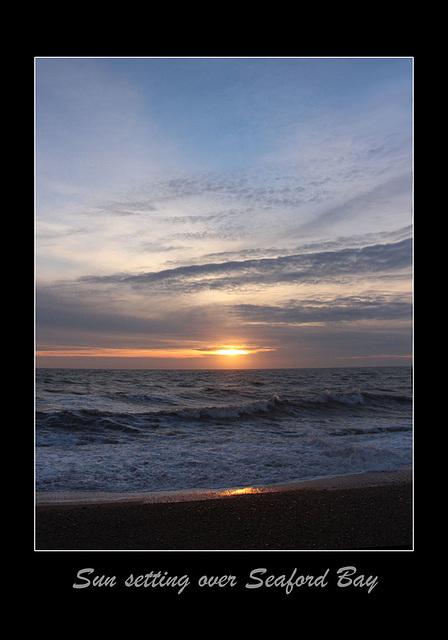 Sun setting over Seaford Bay - 21.1.2016