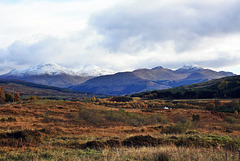 October in the Highlands .. Snowy mountains