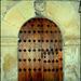 Ancient door. Night shot.