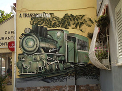 Mural of Douro railway line.