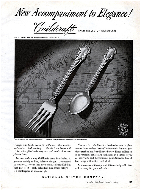Guildcraft Silverplate Ad, 1946