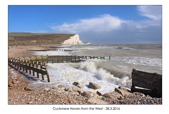 Cuckmere Haven from the West - 28.3.2016