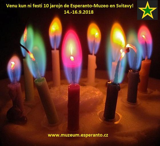 Venu kun ni festi dekjariĝon de la Esperanto-Muzeo en Svitavy!