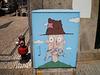 Street art on electricity box.