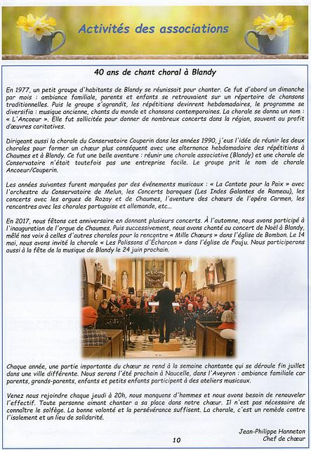 La chorale Ancoeur-Couperin recrute - juin 2017