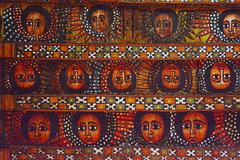 Ethiopia, Gondar, Drawings on the Ceiling of the Church of Debre Birhan Selassie