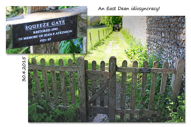 The squeeze gate - East Dean - Sussex - 30.4.2015