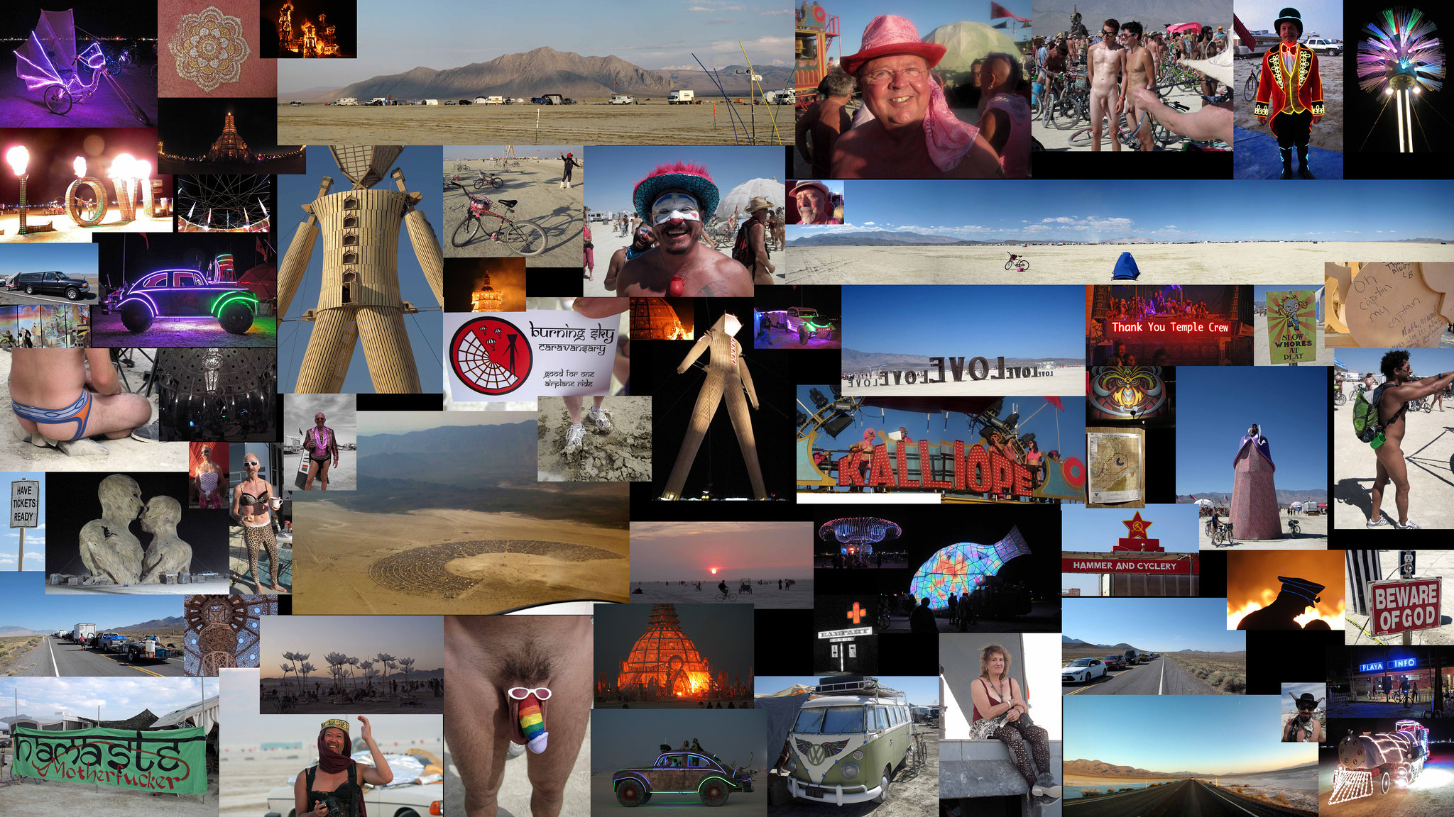 Burning Man 2014 Collage