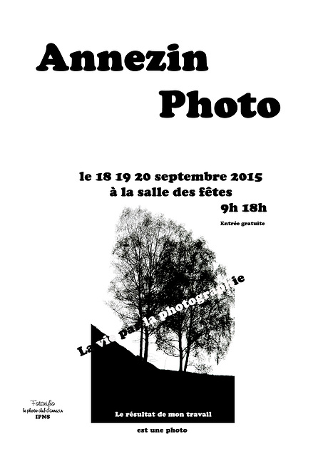 Expo photo dans mon village.....