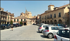 Turegano (Segovia province), its castle, a bl..dy great big crane, town square and town hall.!